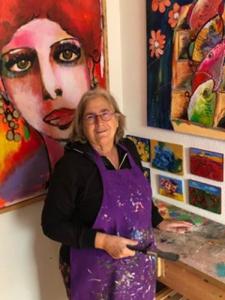 Dianne Rebergen in haar atelier